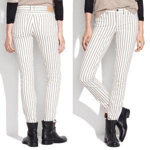 Madewell Skinny Skinny Ankle Jeans Stripe Denim